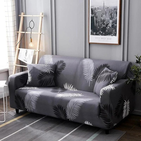 Elastic printing Couch cover-Black Attractive