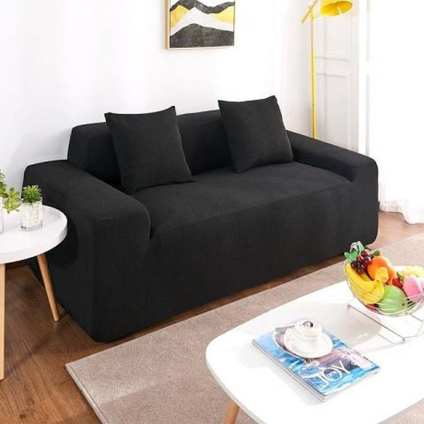 Waterproof Universal Elastic Couch cover-Black
