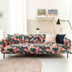 New design stretch printed couch cover-Full Bloom