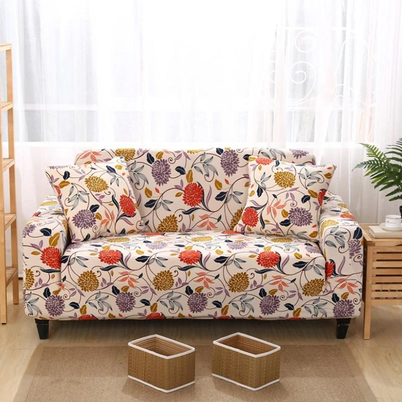 Elastic printing Couch cover-ALTON FLOWER