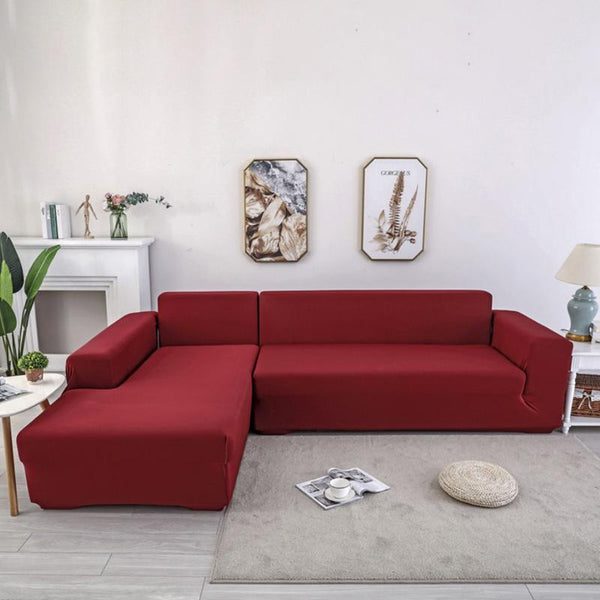 Elastic Original Couch cover-wine red