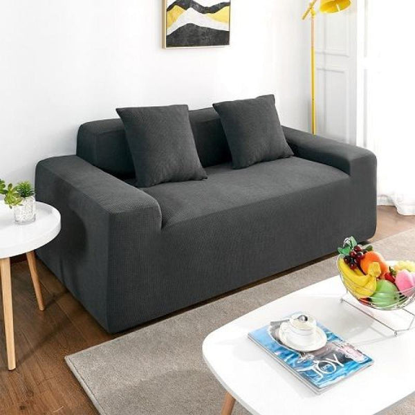 Waterproof Universal Elastic Couch cover-Dark grey