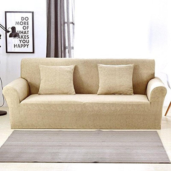 Universal Elastic Couch cover-BRIDIE MINI Khaki