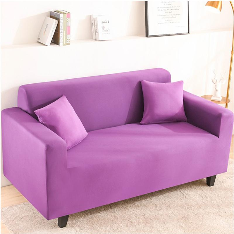 Elastic Stretchable Simple Couch cover-Purple