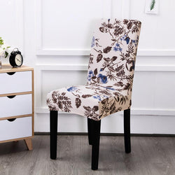 Multi-color Spandex Chair Cover-Flower Dreams