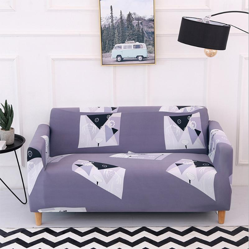 Elastic printing Couch cover - gary pattern