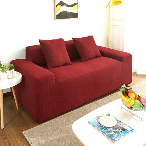Waterproof Universal Elastic Couch cover-Wine red