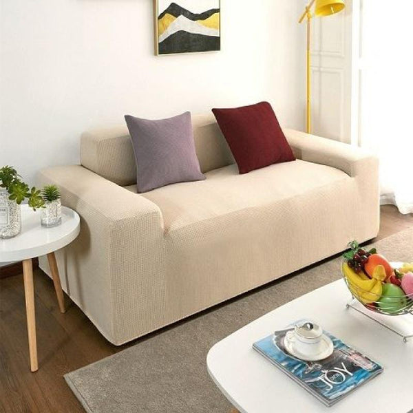 Waterproof Universal Elastic Couch cover-Cream