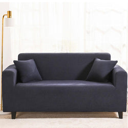 Waterproof Universal Elastic Couch cover-Dark blue
