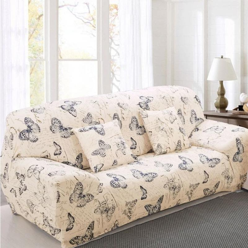 Elastic printing Couch cover-BAYLEY BUTTERFLY