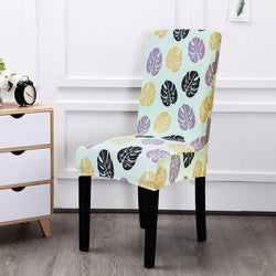 Multi-color Spandex Chair Cover-American Leaf