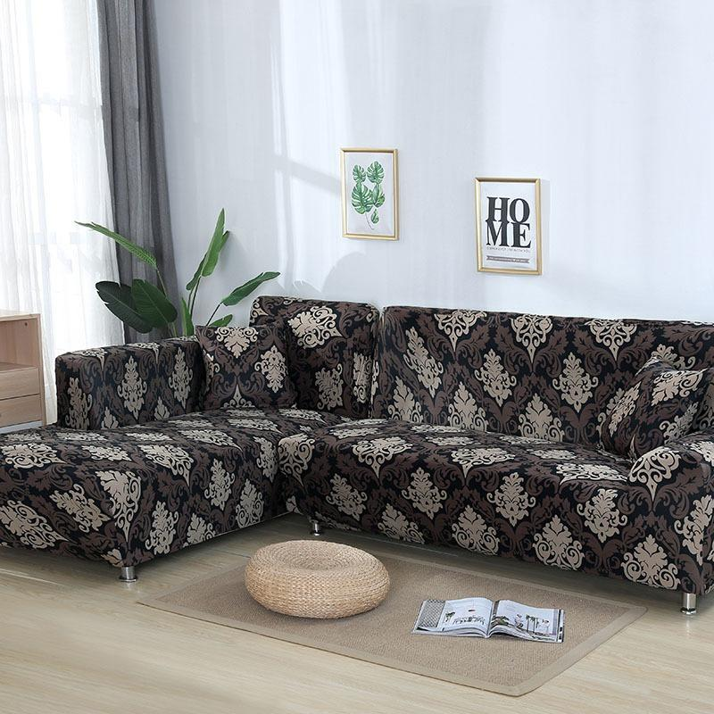 Elastic printing Couch cover-ZAYYAN FLORAL