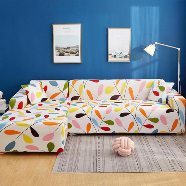Elastic universal printing Couch cover-Spring