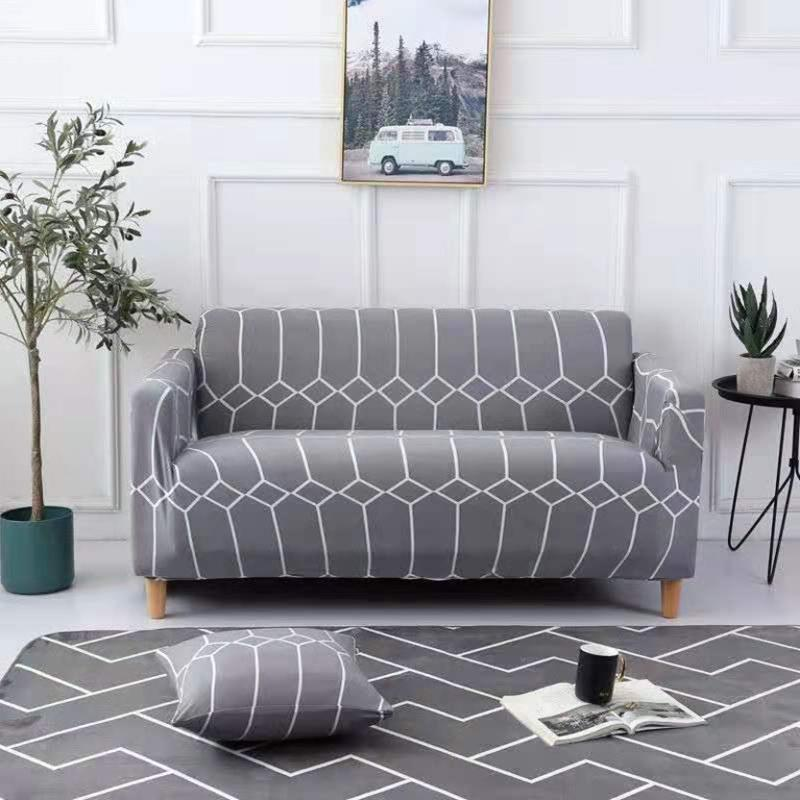 Elastic printing Couch cover-KERRY GRAY