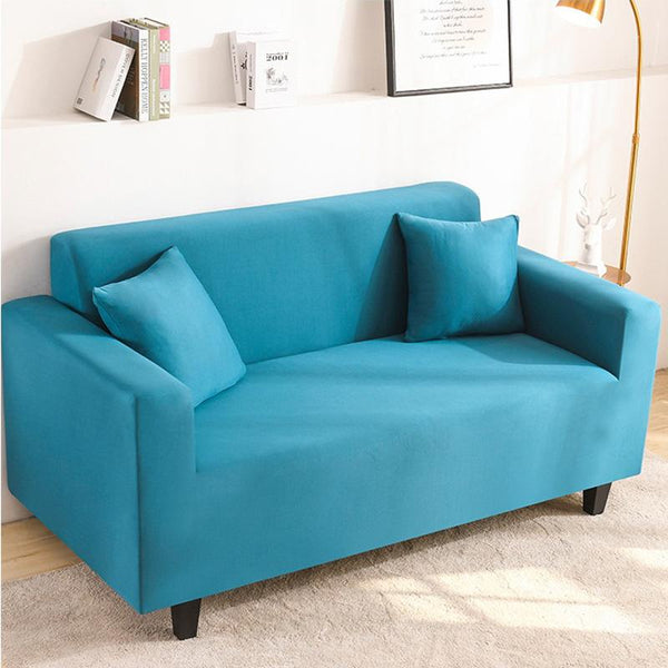 Elastic Stretchable Simple Couch cover-Turquoise