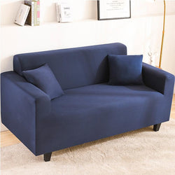 Elastic Stretchable Simple Couch cover-Navy blue