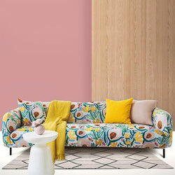 New design stretch printed couch cover-Hibiscus