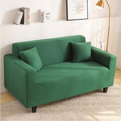 Elastic Stretchable Simple  Couch cover-Green