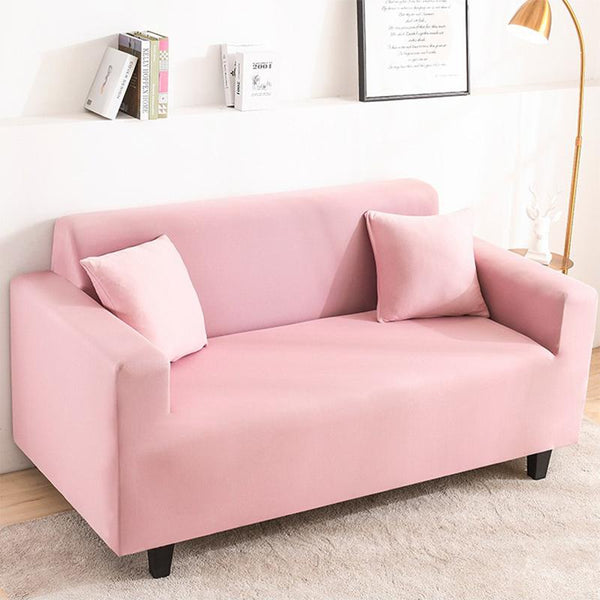 Elastic Stretchable Simple Couch cover-Pink