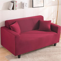 Elastic Stretchable Simple Couch cover-Red