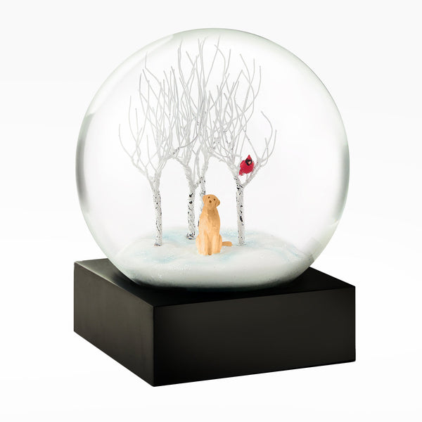 Lab In The Wood Snow Globe