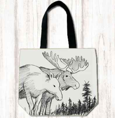 Blk/Wh Moose Shopper