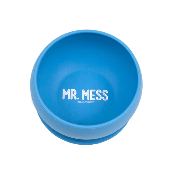 Top View of Bella Tunno bowl with Mr. Mess saying