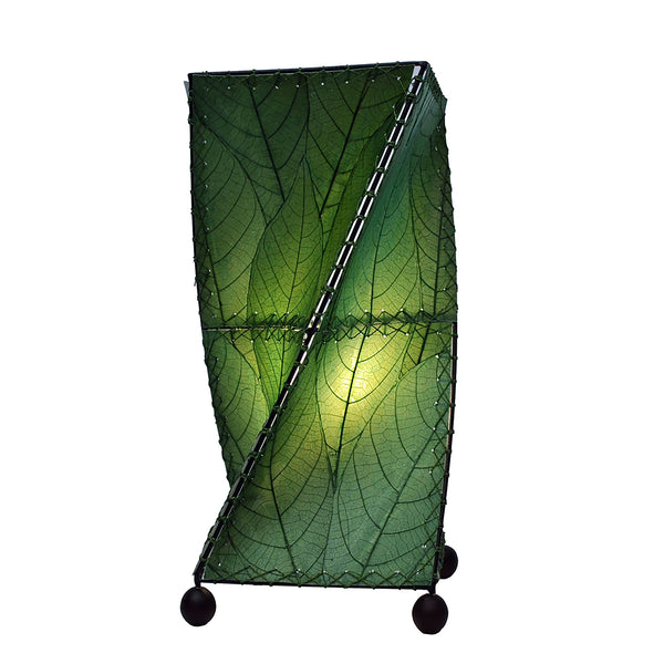 Twist Table Green Lamp