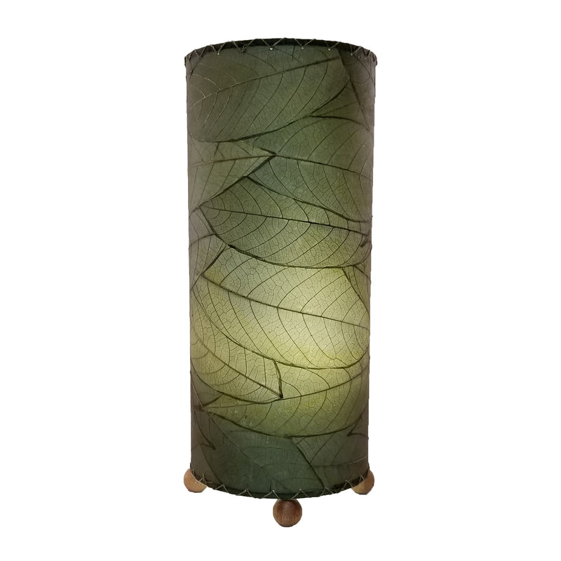 Cocoa Leaf Cylinder Green Lamp