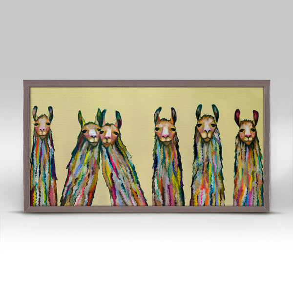 Six Lively Llamas Art