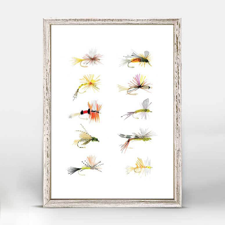 Colorful Collection Flies Art