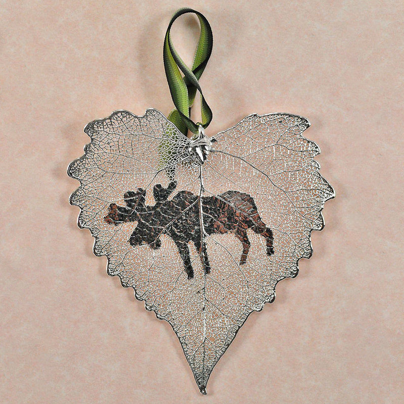 Silver Moose Cottonwood Ornament