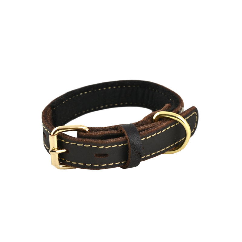Leather Collar SM 9-14""