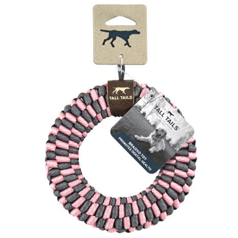 Pink Braided Ring Toy 6""