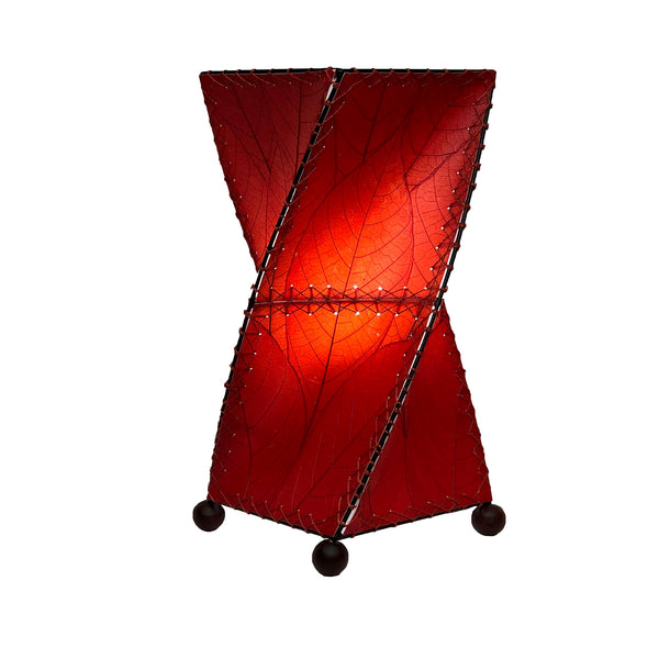 Twist Table Red Lamp