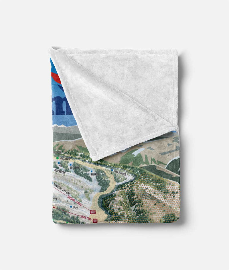 Steamboat Trail Map Blanket