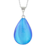 Blue Polished Small Drop Pendant