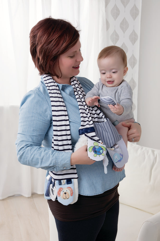 Mommy Activity Scarf Blue