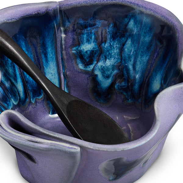 Quacamole Dish with Spoon Blue