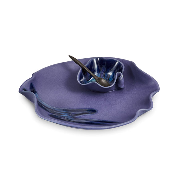 Small Dip Set with Spoon Blue
