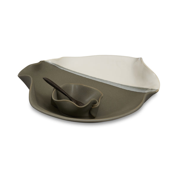 Small Dip Set with Spoon Gray