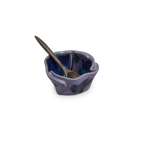 Tiny Pot with Spoon Blue