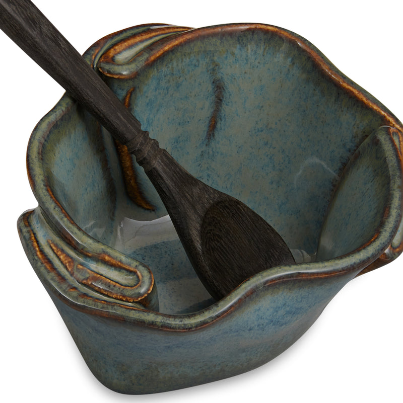 Tiny Pot with Spoon Sable
