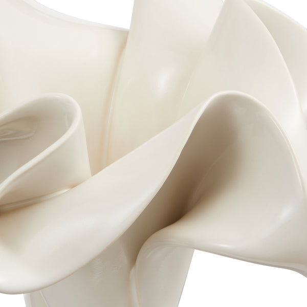 Sculpted Vase White