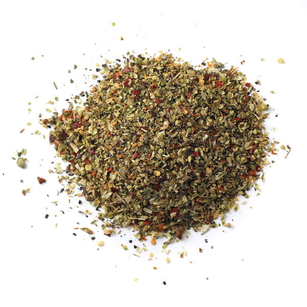 Closeup of spices in Greek Freak Mediterranean Blend