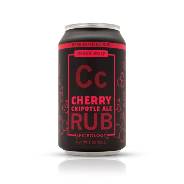 Cherry Chipotle Ale Rub in aluminum can package