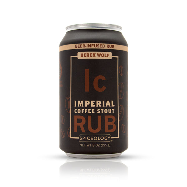 Imperial coffee stout rub in an aluminum can retail packaging