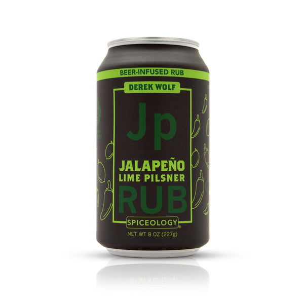 Jalapeno Lime Pilsner rub in an aluminum can retail packaging