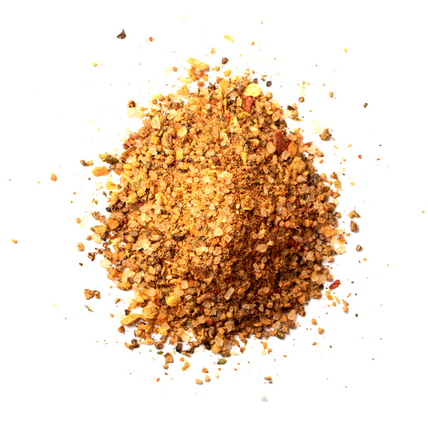 Closeup of spices in Mesquite peppercorn lager rub