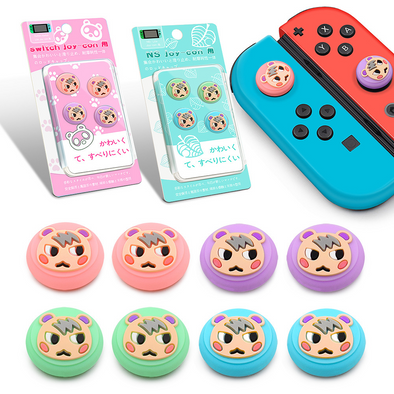 4PCS Switch Thumb Stick Grip Caps